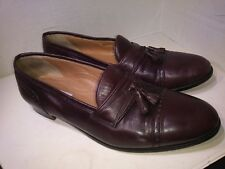 Pierre Cardin Espace Burgundy Leather Loafers Slip On Womens Size 12 D