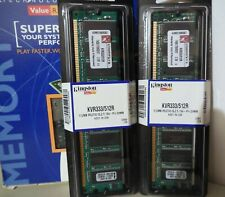 1 GB   2 X (Pair) Kingston ValueRAM 512 MB DIMM 333 MHz DDR SDRAM Memory