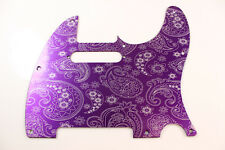 Purple Paisley Anodized Aluminum Tele Pickguard Fits Fender Telecaster -USA Made