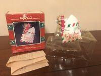 Enesco Treasury Heaven Sent Mouse Angel Christmas Ornament Crayon Letter 1992