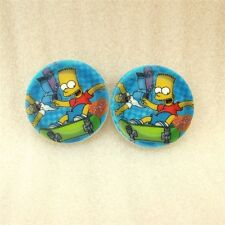2 x 30MM BART SIMPSON LASER CUT FLAT BACK RESIN BOWS HEADBAND CARD MAKING PLAQUE