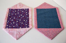 Quilted Snack Cozies - set of two Mug Rugs