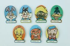 7 Looney Tunes Character Badges - Boggle Eyes on Card - C1950's