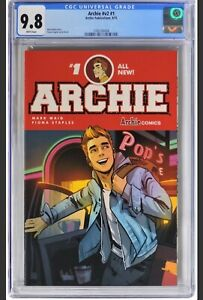 Archie #1 V2 (2015) - CGC 9.8 - Waid Story & Staples Cover & Art. Low Census