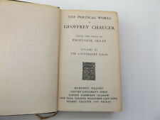 1921 The Poetical Works of Geoffrey Chaucer Vol.3 The Canterbury Tales HUMPHREY