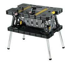 Folding Work Bench Table Sawhorse Clamps Multi-Purpose Garage Tools Portable