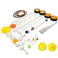 EUDAX 82 pcs Plastic Gear Package Kit DIY Gear Assortment Accessories Set for