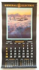 Rare Antique GE General Electric WWII WW2 COMPLETE 1942 Calendar Walter Greene