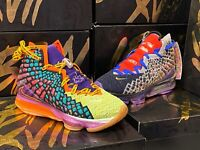 "Nike Lebron XVII 17 WTW 'WHAT THE""' MULTI COLOR CV8079-900 Sz 10.5  DOUBLE BOXED"