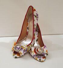 was £99 size 7.5 (40) bourne elegant floral peep-toe shoes/heels