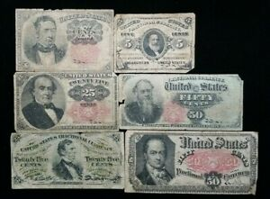 Fractional Currency Lot (6) Notes