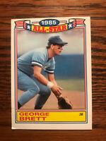 1986 Topps 1985 All-Star Game George Brett Baseball Card Kansas City Royals Raw