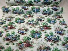 House 'n Home Toile Fabric Decor Upholstery Tall Ships 18th Century 48W BTY