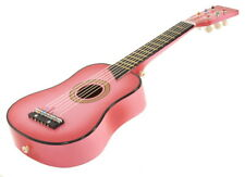 "25"" Acoustic Guitar - Pink Small Scale Child Kids Practice Play Toy Bag Tuner"