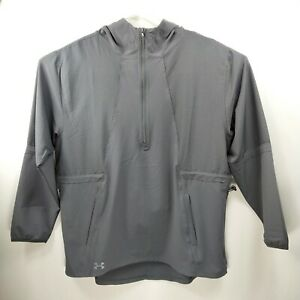 Under Armour Women's Squad Woven 1/2 Zip Color Gray