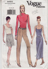 Skirt Pants A line Straight Tapered Vogue Sew Pattern 9465 Size 12-16 Easy Uncut