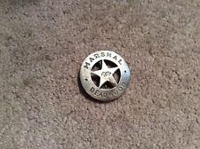 Marshal Deadwood Metal Badge Novelty