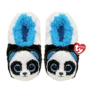 Ty Beanie Boos Panda -bamboo- Slippers 37/23,2cm + Gift Bag