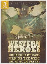 WESTERN HEROES BREAKHEART PASS/MAN OF THE WEST/MISSSOURI BREAKS (DVD, 2011) NEW