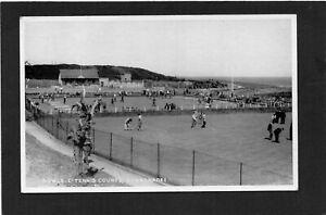 DONAGHADEE - Bowls & Tennis Courts, Down, N.Ireland.  RPPC by Gordon's. p/u 1950