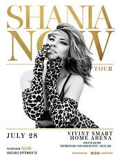 "Shania Twain ""Now"" 2018 Salt Lake Concert Tour Poster - Country Pop / Rock Music"