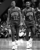 Detroit Pistons ISIAH THOMAS & JOE DUMARS Glossy 8x10 Photo NBA Basketball Print