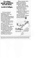 PUBLICITE  1971   CULLIGAN  le spécialiste de l'eau douce