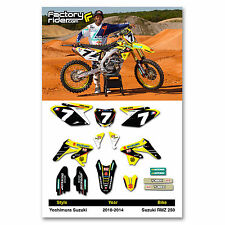 2010 - 2018  SUZUKI RMZ 250 YOSHIMURA Dirt Bike Graphics kit Motocross Decals