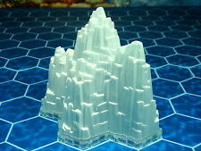 4-Hex Glacier or Ice Mountain with base Heroscape Terrain - Thaelenk Tundra