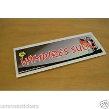 Halloween Car Window 'Vampires Suck' Sticker Decal Graphic SINGLE