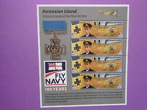 ASCENSION ISLAND: 2008 Centenary of UK Naval Aviation Sheet MNH  Sg1036/37