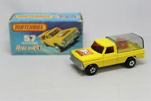 Matchbox Lesney Superfast No57 WILDLIFE TRUCK with TINTED REAR COVER & BRON LION