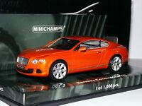 Minichamps 2011 Bentley Continental GT Coupe Metallic Orange LTD ED 1/43