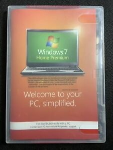 Windows 7 64-bit home premium dvd cd no keynew unused disc