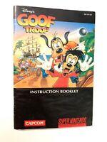 Goof Troop Colored Manual SUPER NINTENDO SNES Instruction Booklet Book ORIGINAL!