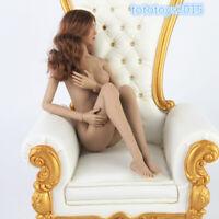 1/6 Black Skin Flexible Female Body Seamless Girl Soft Middle Bust Action Figure