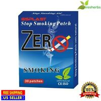 ZERO SMOKE QUIT SMOKING PATCH AID END NICOTINE ADDICTION ONE MONTH - 30 PATCHES