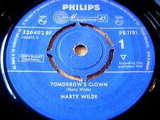 """Marty Wilde-Tomorrows Payaso Vinilo De 7"""""""