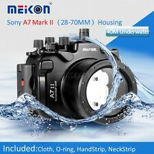 Meikon Waterproof Camera Housing Underwater Case For Sony A7 II 28-70mm