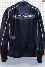 Mens Size XL Harley Davidson Black Mesh Jacket Coat 97283-07VM Motorcycle Biker