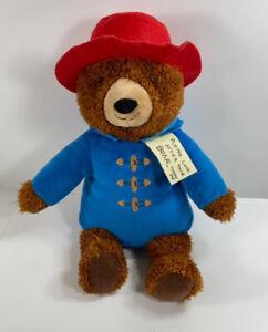 "Kohls Cares Paddington Bear 12"" Plush Red Hat Blue Jacket Stuffed Animal"