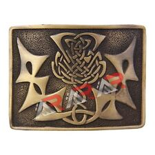 Scottish Kilt Belt Buckle Celtic Knot Thistle High Quality Antique Finish