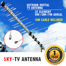 32 Element Log Periodic TV Antenna Outdoor Uhf/vhf/fm HDTV Digital Aerial