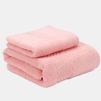 Bathroom Towel Set (Pack of 2) Soft Satin Bath 100% Egyptian Cotton Towels
