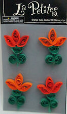 The Paper Studio La Petites 4 Orange 3D Tulip Quilled Stickers