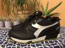 Diadora N9000 Bright Black & Reflective Gray Shoes size US 10.5 Italian