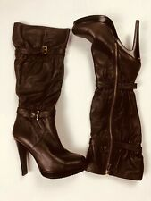 Michael Kors Women's Sz 8.5 M Brown Leather Tall Boots Slouch