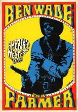 Vtg Orig. Movie Poster BEN WADE ÉS A FARMER / 3:10 TO YUMA USA western 1971