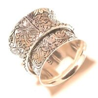 Solid 925 Sterling Silver Spinner Ring Meditation ring statement ring Size sr281