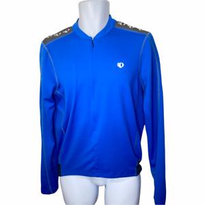 Pearl Izumi Select Series Men's Blue Long Sleeve 1/4 Zip Bike Cycling Jersey M